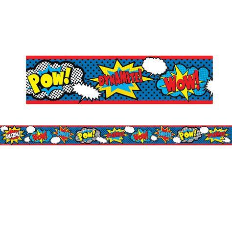 (3 Pk) Superhero Straight Rolled Border