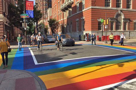 40+ ideas de Rainbow Crosswalk | paso de peatones, disenos de unas, cruce  peatonal