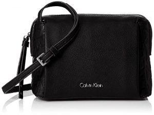 a6364f37c931b Calvin Klein Damen MISH4 SMALL CROSSBODY Umhängetasche Schwarz (BLACK )