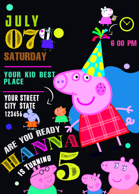 List of Pinterest peppa pig birthday party for boys etsy pictures ... e0b38f3eedf