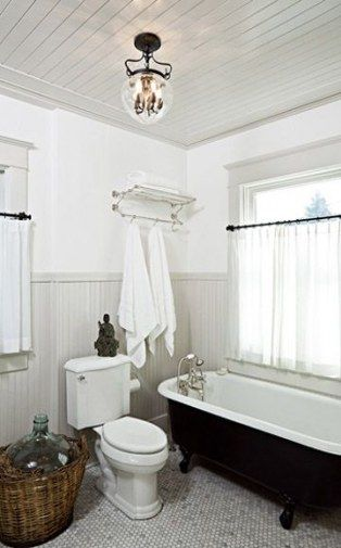 32 New Ideas For Bath Room Country Chic Wainscoting Bath Grey