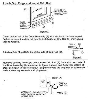 Chrome Framed Shower Door Replacement Drip Rail With Vinyl Sweep 32 Long Review Framed Shower Door Shower Doors Replace Door