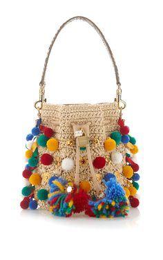 b3aa3df1ab Claudia With Pom Poms Bucket Bag by DOLCE   GABBANA Now Available on Moda  Operandi