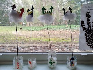 this is such a cute idea for Jack and the Beanstalk via Mrs. Goff's class #preschool #kindergarten