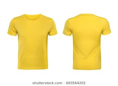 Download Yellow T Shirts Front And Back Used As Design Template Yellow T Shirt T Shirt Image T Shirt Design Template
