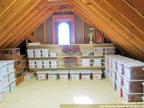 Attic Storage...one day we'll have one of these! | Organize | Pinterest | Attic  storage, Attic and Storage