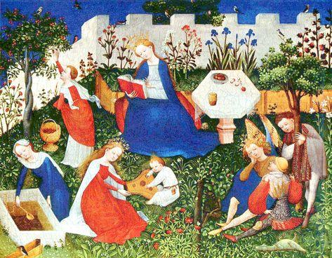 Oberrheinischer Meister - Paradiesgärtlein, ca. 1410 Frankfurt, Museum Städel, Städelsches Kunstinstitut