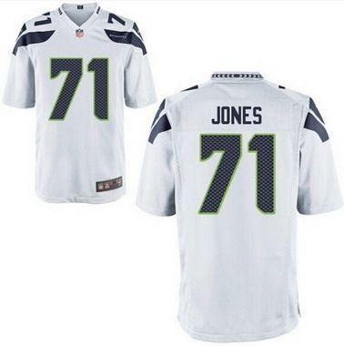 Seattle Seahawks  71 Walter Jones White Retired Player NFL Nike Elite Men s  Jersey 6911a3337