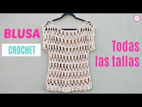 Como Tejer Blusa A Crochet Handwork Diy Youtube Tejidos Crochet Chalecos Tutorial De Blusa Vestidos De Ganchillo