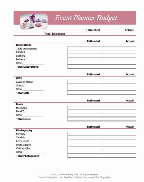 30 Event Planner Invoice Template In 2020 Event Budget Event