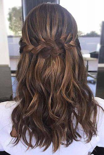 30 Ways To Style Brown Medium Hair Stunning Medium Length Hairstyles In 2020 Hair Styles Easy Hairstyles For Medium Hair Hair Lengths