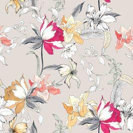Ma_632 by MerveAruta - Watercolor hanpainted floral design.