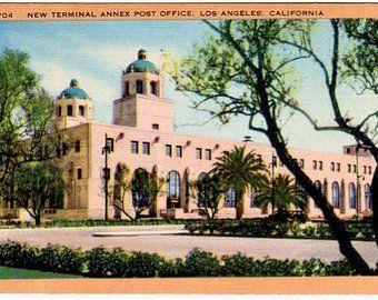 Vintage Postcard Los Angeles Etsy California Postcard Vintage California Postcard
