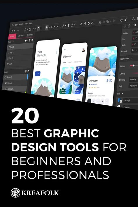 20 Best Graphic Design Tools for Beginners and Professionals