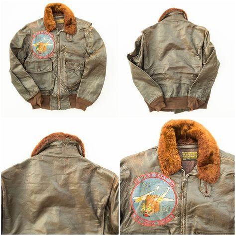 Vintage L. Forster Sportswear 59 Far East 60 253 Heavy Gliders Patch Patchwork Flight Jacket ( SIZE : 38 ) - Japan Lover Me Store