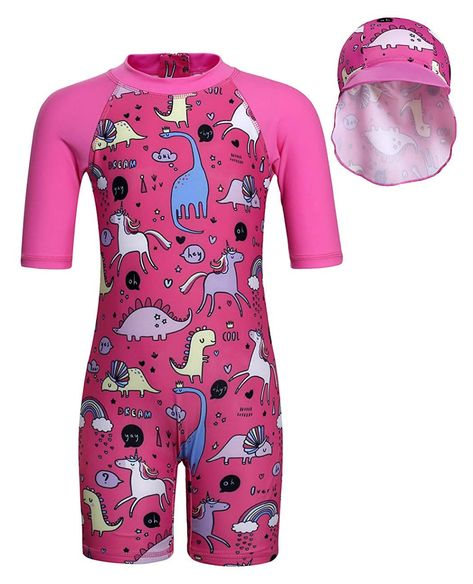 eKooBee Baby Little Girls Rashguard Set Two Piece Lemon Swimwear Swimsuit UPF 50+