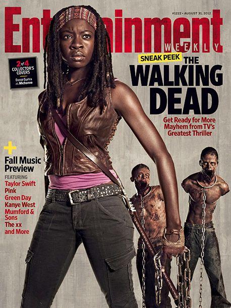 Danai GuriraThe Walking Dead Season 3 Entertainment Weekly Cover. #thewalkingdead #michonne #horror #DanaiGurira