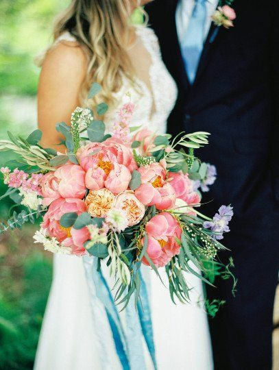 Pink Peony Wedding Bouquet Idea Spring Wedding Bouquet With