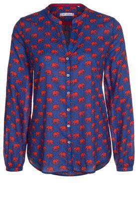 Emily Van Den Bergh Blue Blouse With V Neck And Full Sleeves Blue Blouse Street Style Blouse