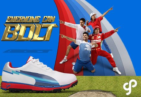 The Usain Bolt inspired Faas Trac EvoSpeed golf shoe by Puma