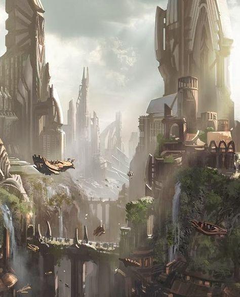 Sci Fi Fantasy World Concept Art