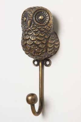 #Anthropologie Creature Kingdom Hook, Owl #anthroregistry