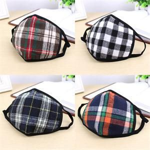 One Piece Portable Winter Warm Anti Dust Wind Plaid Mouth Muffle