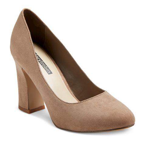 19a15157474b Women s Faryl by Farylrobin Stella Wide Width Block Heel Almond Toe Pumps -  Taupe 7.5W