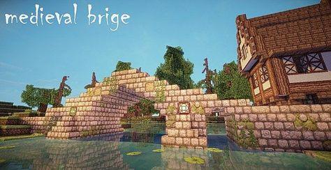 Medieval Bridge Minecraft Project Minecraft Gebaude Minecraft