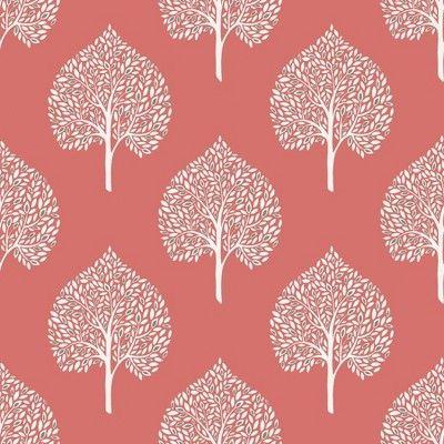 Nuwallpaper Grove Peel Stick Wallpaper Coral In 2020 Coral Wallpaper Nuwallpaper Peel And Stick Wallpaper