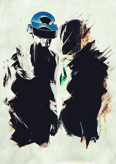 eijiretsuya: DAFT PUNK - Speed of SoundI am painting with relax, so it take a few days to complete.will be available for printing on T-shir...