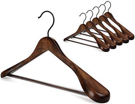 Amazon Com Topia Hanger Set Of 6 Beautiful Coat Suit Jacket Wood