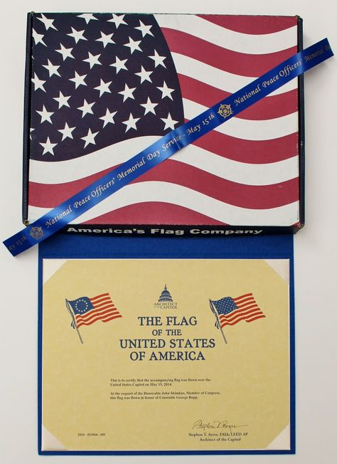 Request A U S Flag Flown Over The Capitol By Writing To Your U S Legislators With Images Flag Capitols Peace Officer