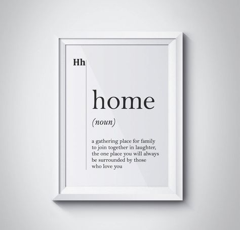 Home Definition Print, Wall Art Prints, Quote Print, Wall Decor, Minimalist Poster, Minimalist Print, Modern Art, Family Print, #HQDEF018 by HQstudio on Etsy