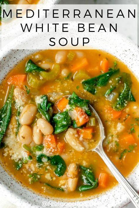 Mediterranean White Bean Soup Recipe Diet Soup Recipes