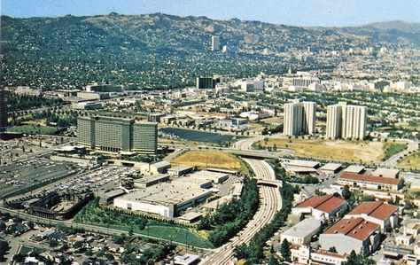 A view of Century City in 1960, the year William Zeckendorf signed an agreement to develop Century City.
