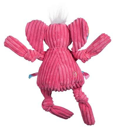 Hugglehounds Plush Corduroy Durable Squeaky Knottie Dog Toyfor