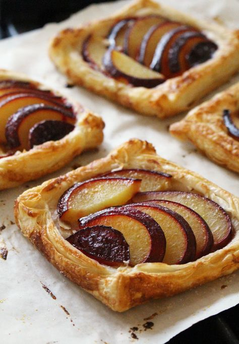 Easy Plum Tarts | Dinner with Julie