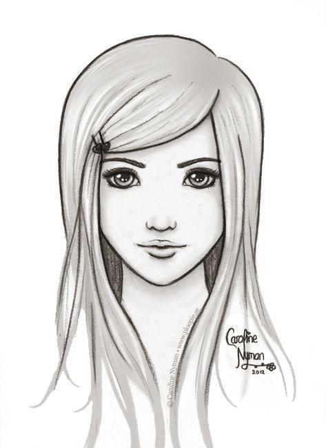 Tia By Ploopie On Deviantart Easy People Drawings Pencil Drawings Of Girls Cool Drawings