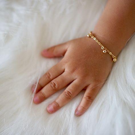 Nova Bracelet - Gold Ball Drops Bracelet for Toddler.