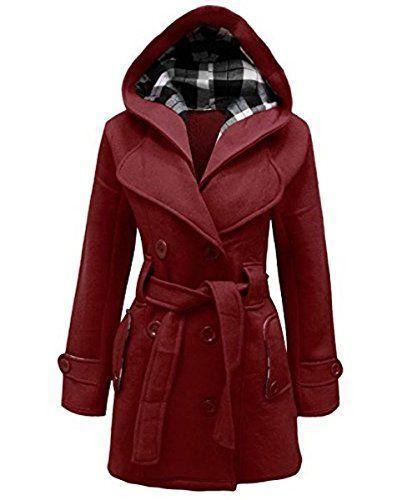 Fest Mantel Jacke Oberteile Frauen Tasche Damen Knöpfe Warm Trenchcoat