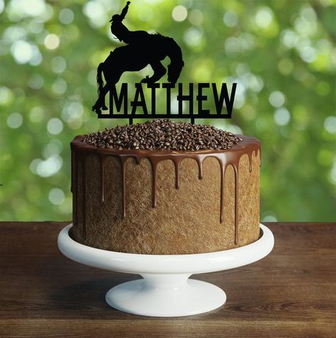 Cowboy Birthday Cake Topper Customizable Party Decorations Rodeo
