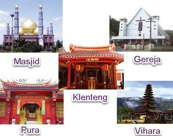 6 Agama Di Indonesia Yang Diakui Dan Tempat Ibadahnya Lengkap Indonesia Masjid Taj Mahal