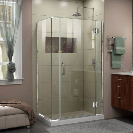 Dreamline Unidoor X 40 1 2 In W X 30 3 8 In D X 72 In H Frameless Hinged Shower Enclosure In Chrome Size 30 38 Inch X 40 5 Inch In 2019 Frameless Shower Enclosures Shower Enclosure Bathroom Shower Doors