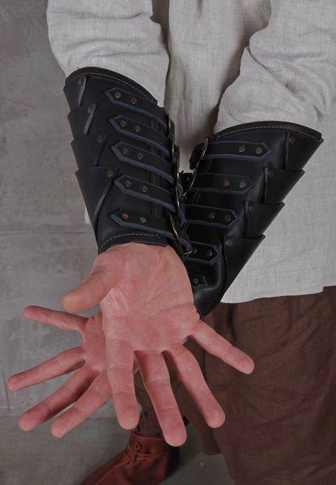 Medieval Winged Skull Bandage Gauntlet Bracelet Wristband Cuff Band Arm Wrap