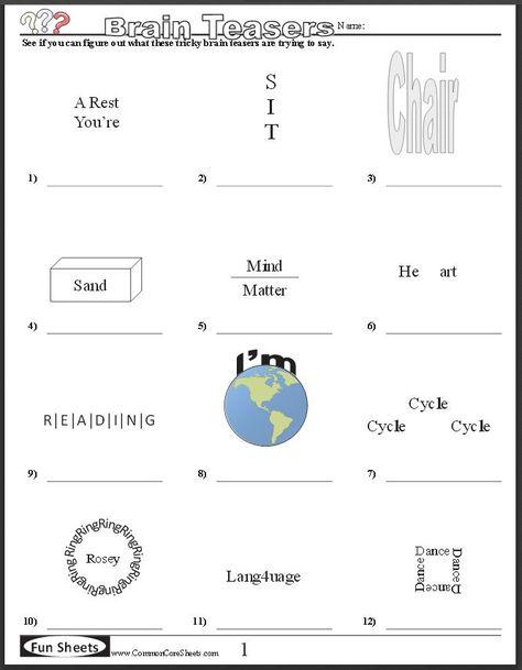 Riddles, Brain Teasers & Optical illusions on Pinterest | Brain ...
