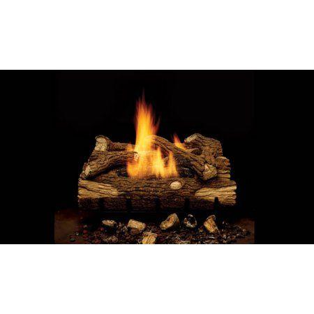 Monessen Gas Logs 24 Inch Mountain Oak Vent Free Propane Gas Log Set Millivolt On Off Remote Ready Loghomeplans Log Home Plans Log Homes Gas Log Sets