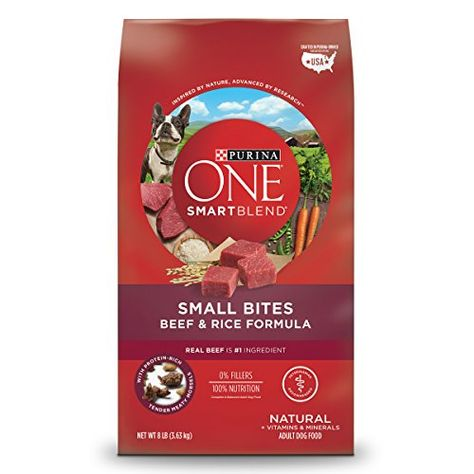 Purina One Smartblend Small Bites Beef Rice Formula Dry Dog Food