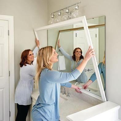 Chelsea Classic White Frame In 2020 Mirror Makeover Bathroom