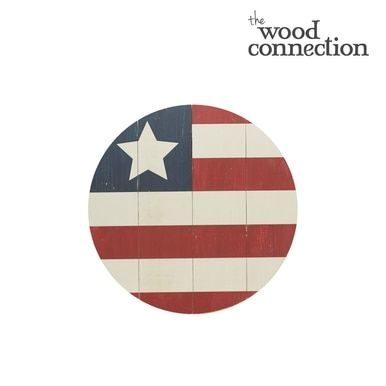 Flag Large Circle Plank In 2020 Unfinished Wood Crafts Flag Wood Crafts